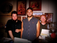 James and the crew at Artist blue Gallery